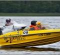 Бортовой стикер на соревнованиях водно-моторного спорта