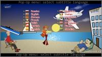 Pop-up menu: select subtitle language