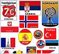 Стикер на мотоцикл мототуриста - страны и места