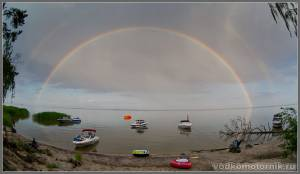 Вот такая радуга над флотом