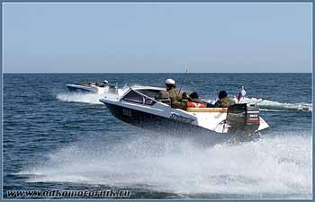 Катера водкомоторников на Балтийском море 2008г.