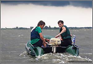 Nord Boat уходит от грозы