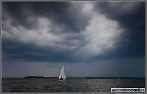 Предгрозовая обстановка на Калининградском заливе