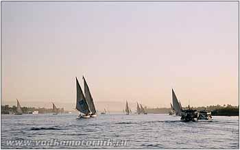 Яхтенный флот на ниле. 2007г.