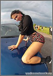 На синем BMW