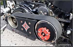 Ременной привод мотоцикла.