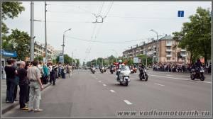 Колонна мотоциклистов в г.Брест