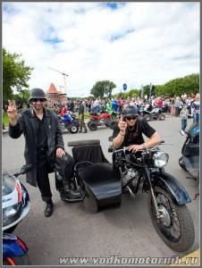 Колонна Байк шоу Каунас мотоцикл Урал
