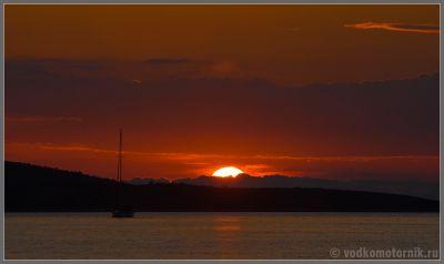 Закат на острове Муртер