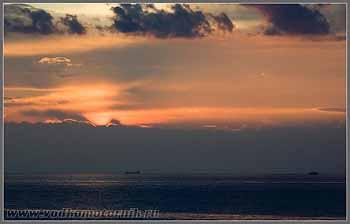 Закат на Адриатическом море.