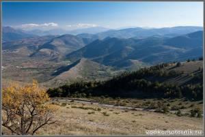 Холмистость центральной Италии