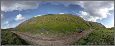 Исландская панорама слева