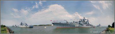 Корабли Балтийского флота за день до парада 2015