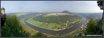 Вид на Эльбу с замка Кенигштайн.