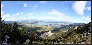 Бавария - вид с горы Тегельберг 1702 м.