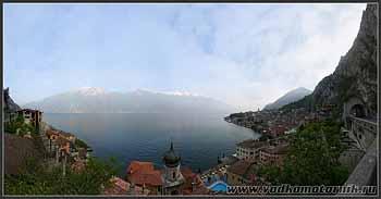 Панорама озера Гарда (Garda).