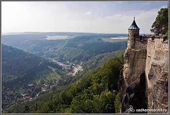 Вид с замка Кенигштайн