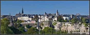 Люксембург. Панорама старого города.