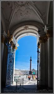Вид на дворцовую площадь.