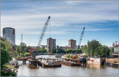 Высокий мост - Hohebrücke на ремонте