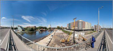 Панорама ремонт Высокого моста в Калининграде