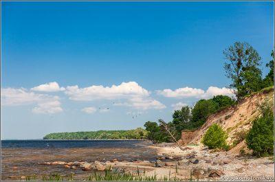 Берег Калининградского залива в районе замка Бальга