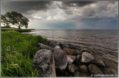 Куршский залив перед грозой