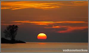 Осенний закат на Калининградском заливе