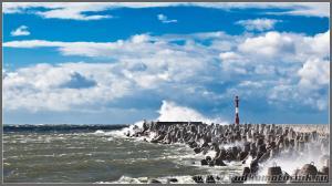 Балтийское море штормит