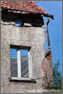 Корнево. Стена немецкого дома.