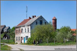 Домново. Немецкий дом водонапорная башня.
