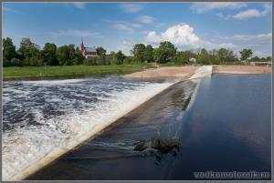 Новая плотина на Шешупе Краснознаменск