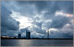 Вантовый мост. Рига Латвия
