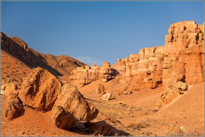 Казахстан - внутри Чарынского каньона