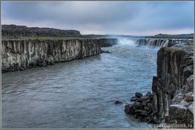Исландия водопад Hafragilsfoss