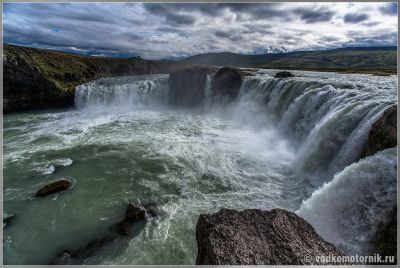 Исландия. Водопад Godafoss