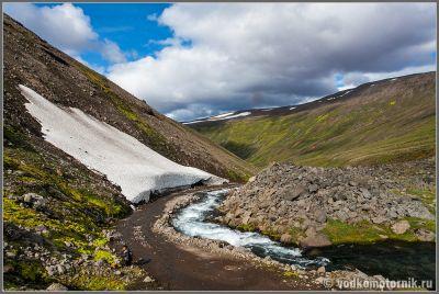 Исландия. Остатки ледника