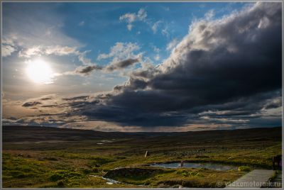 Исландия. Термальный пруд в Laufafell