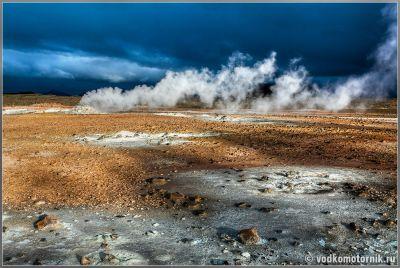 Дым из земли - планеты Исландия