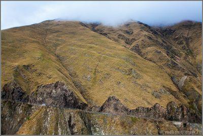 Горная дорога на перевал Абано