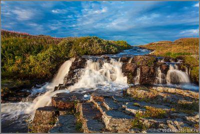 Водопад на ручье Червячный