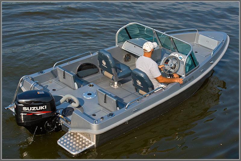 купить рыболовную лодку из алюминия