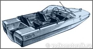 Обь-3 моторная лодка