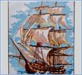 Вышивка крестом - парусник, барк, яхта