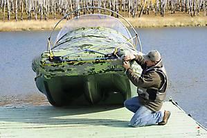 Тримаран надувной GESER K600  - форма носовых обводов