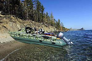 GESER K600 надувной тримаранный катер с защищёнными скегами