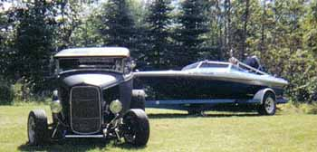 32 ford and a Checkmate
