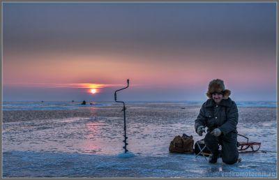 Зимняя рыбалка на Куршском заливе