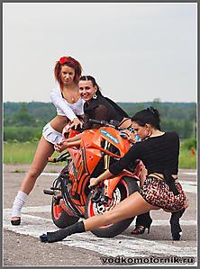 Девушки мотоцикл
