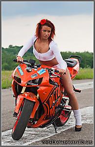 Оранжевый мото